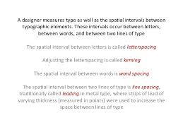 basics of typography kerning