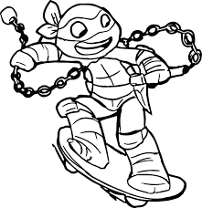 printable turtle coloring pages for adults free ninja pictures