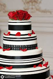red black and white wedding cakes the wedding specialiststhe