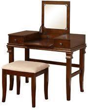 2 Piece Vanity Set Walnut Bedroom Vanities U0026 Makeup Tables Ebay