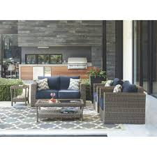 Home Depot Wicker Patio Furniture - home decorators collection naples grey 4 piece all weather wicker