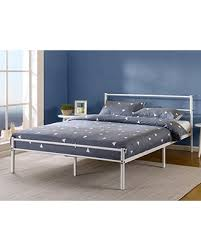 Bed Headboard And Footboard Check Out These Bargains On Zinus 12 Inch White Metal Platform Bed