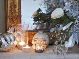 christmas flowers silver and white my french country home