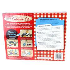 amazon com melissa u0026 doug bake and decorate wooden cupcake play