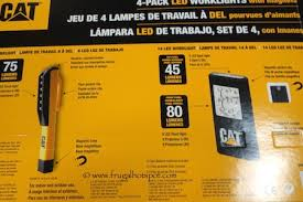 cat rechargeable led work light costco costco sale cat 4 pack led worklights with magnets 15 99 frugal
