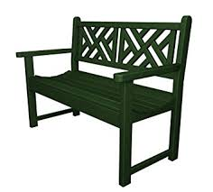 Outdoor Furniture Plastic by Amazon Com Polywood Outdoor Furniture Chippendale 48 Inch Bench