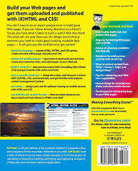 html xhtml css fd 7e for dummies amazon co uk tittel noble