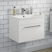 Gloss White Vanity Unit Wall Hung Vanity Units Wall Mounted Basin Units For The Bathroom