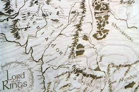 map from lord of the rings wooden middle earth map engraved into wood lord of the rings