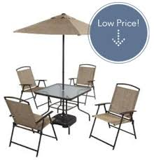 7 piece folding patio dining set only 95