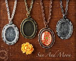 diy glass pendant necklace images Small pendant diy kit cute necklace kit includes pendant setting jpg