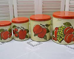 apple canister set etsy