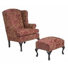damask chair three posts damask wing back chair and ottoman reviews wayfair