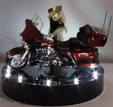 harley davidson wedding cake toppers wedding fairytale dreams wedding cake topper lit with 2013 electra