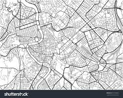 Map Rome Black White Vector City Map Rome Stock Vektorgrafik 557293063