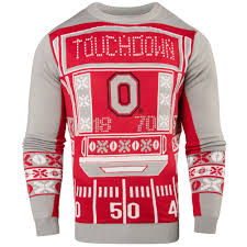 mens light up ugly christmas sweater ohio state buckeyes light up ugly christmas sweater swtcnncluoh