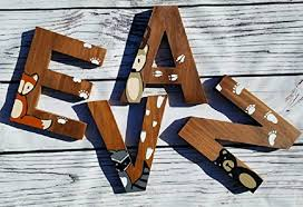 amazon com wooden letters for nursery woodland nursery decor