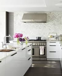 toronto stacked tile backsplash kitchen contemporary with ceiling