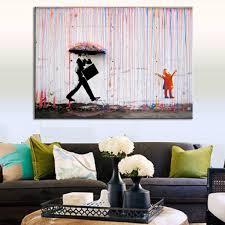livingroom wall decor banksy colorful wall canvas wall living room wall