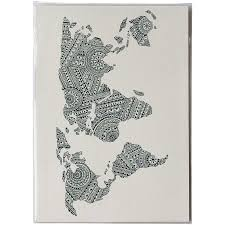 World Map Art Print by World Map Pattern Print P 028 U2014 Little Difference Uk