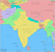 Map Of Europe Pre Ww1 by Amateur Radio Prefix Map Of South Asia