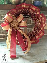 ruffled ribbon ruffled ribbon wreath tutorial trendy tree decor
