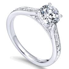 gold hand rings images 14k gold milgrain and hand etched solitaire engagement ring er7223 jpg