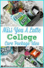 college care package miss you a latte college care package the farm girl gabs