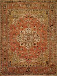 Rust Area Rug Regal Theology 47283 Rust Rust