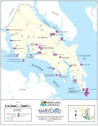 Island Beach State Park Map by St Mary U0027s County Public Boating Access
