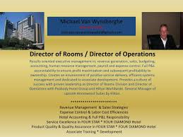 Sample Director Of Operations Resume by Rooms Director Operations Hotel Visual Resume Michael Vanwynsberghe
