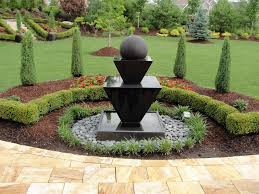 terrific front yard landscaping ideas with fountains pictures