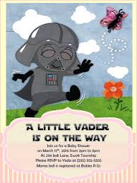 wars baby shower ideas wars baby shower invitation darth by raynerhysdesigns on etsy