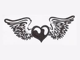 Design Black And White Heart Tattoo Black And White Danielhuscroft Com