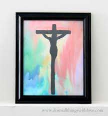 crucifixion watercolor u2013 do small things with love
