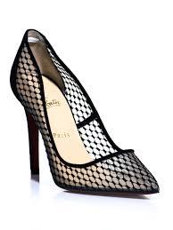 golden chain christian louboutin mesh shoes