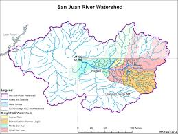 Navajo Reservation Map Watershed Map San Juan Watershed Group
