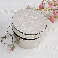 engraved keepsakes personalized bridesmaid keepsake jewelry box