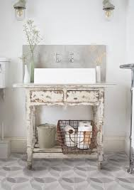 rustic modern bathroom shabby chic style with granito tiles wire