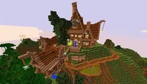 mountain house minecraft minecraft seeds pc xbox pe ps4