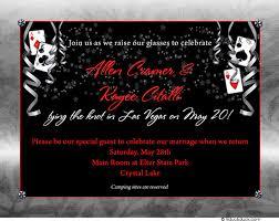 wedding invitations las vegas las vegas bridal shower invitation confetti casino card