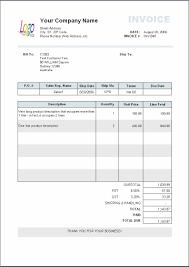 Exle Of Invoice Template invoice exle word pertamini co