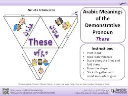 arabic demonstrative pronoun u0027these u0027 template learn arabic