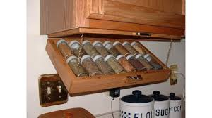 Kitchen Cabinet Spice Organizers by Creative Kitchen Storage Idea Under Cabinet Spice Rack Youtube