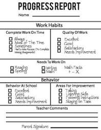 elementary progress report template 27 images of behavior progress report template infovia net