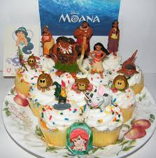 themed cake decorations disney moana deluxe mini cake toppers cupcake