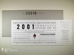 high school reunion invitations typographic style 10 year high school reunion invitations