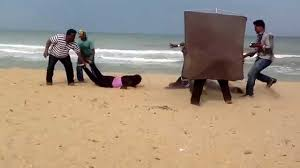 pooja muni 3 shoot at chennai ecr beach behind girija poduval