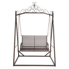 Wrought Iron Patio Swing by Articles With Metal Porch Swing Bed Tag Extraordinary Iron Porch