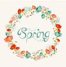 wallpaper bunga lingkaran karangan bunga bunga musim semi vector latar belakang vektor gratis